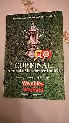 Arsenal V Man Utd Signed 1979 Fa Cup Final Programme