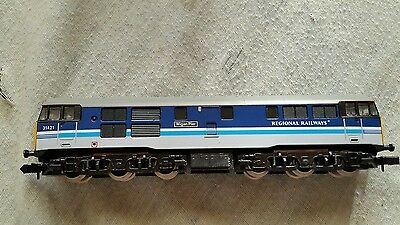 A model railway class 31 diesel locomotive in N gauge by grafar boxed working