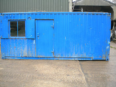 20' steel container.  50/50 split site office cabin and secure store...£1500+VAT