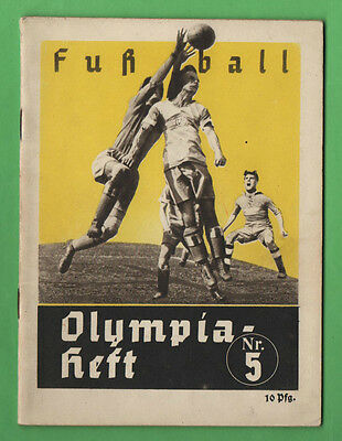Orig.Guide / Extra PRG    XI.Olympic Games BERLIN 1936 - FOOTBALL  !!  VERY RARE