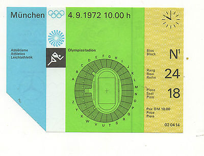 Orig.Ticket  Olympic Games MÜNCHEN 1972 - ATHLETIC 04.09. // with 4 Final`s  !!