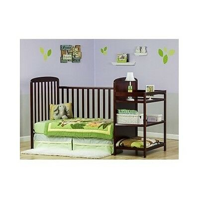 Convertible Baby Crib Matching Changing Table Toddler Bed Furniture Nursery