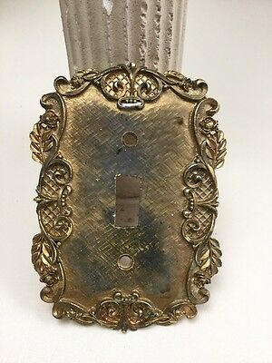 """True Vintage 1967 Florenta California Switch Plate Cover """"Rococo Rose"""" Hollywood"""
