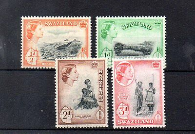 set of 4 mint QEII stamps from swaziland