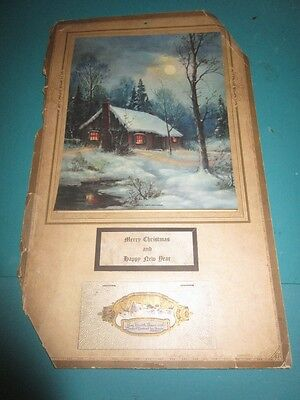 "Vintage 1930 ""fireside Reflections""-Wall Calendar By John Baumgarth, Co. - F.s."