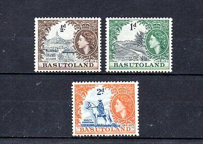 set of 3 mint QEII stamps from basutoland