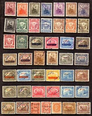 NICARAGUA Official, 45 all different, mint & used mix