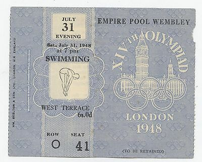Orig.ticket   Olympic Games LONDON 1948 - SWIMMING 31.07. // 3 FINAL`s !! RARITY