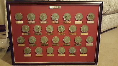 The Formula One World Champions 1950 - 1997 framed medals
