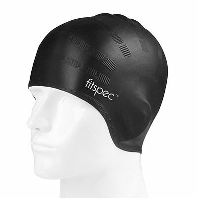 Fitspec Silicone Swimming Cap With Ear Pockets Long Hair Large Men Ladies Hat