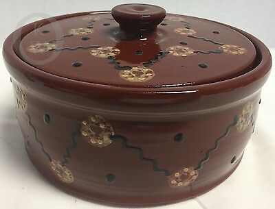 Eldreth Pottery* REDWARE* 1999* Bowl & Lid 16309Z