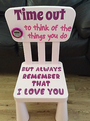 Time Out Naughty Step Kids Chair Stool
