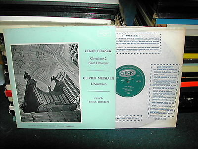 ZRG 5339 Franck olivier messiaen Preston LP 1963 ED1