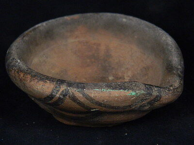 Ancient Teracotta Painted Lamp Indus Valley 2500 BC   #PT15556