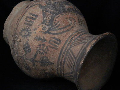 Ancient Teracotta Painted Pot With Animals Indus Valley 2500 BC  #PT15461