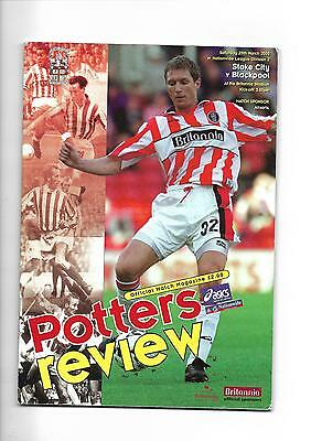 1999/2000 Stoke City v Blackpool football programme