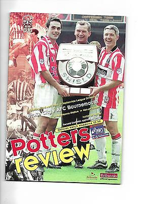 1999/2000 Stoke City v Bournemouth football programme