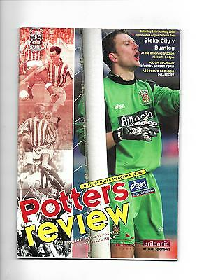 1999/2000 Stoke City v Burnley football programme