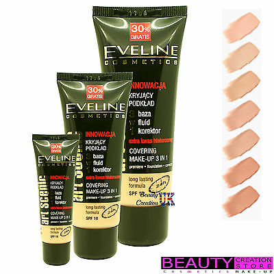 EVELINE Art Scenic Covering Makeup 3 in 1 Foundation Long Lasting 40ml EV056