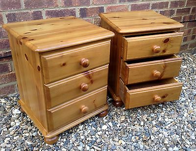 *Pair of Pine Bedside Drawers*Delivery Possible!
