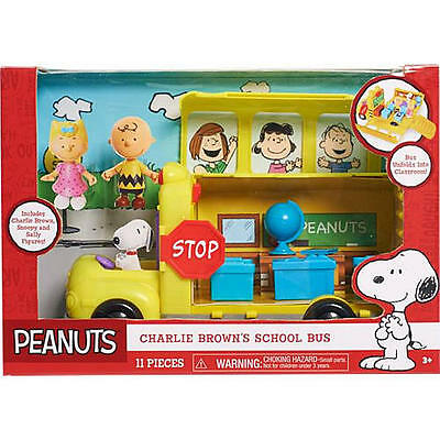 *Brand New*Peanuts Charlie Brown School Bus Classroom Snoopy-Charlie Brown-Sally