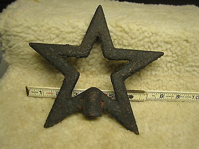 Antique Wrought Iron Star, 5 Points, Civil War, Windmill Counter Weight?