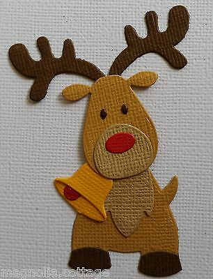 4 x Assembled Rudolph Reindeers, Christmas, Die Cuts, Embellishments