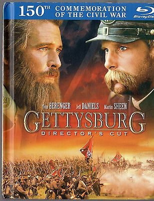 Gettysburg (Blu-ray Disc, 2011, 2-Disc Set,Directors Cut ) with 48 page book NEW