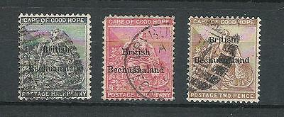 Bechuanaland 1885 #5, 6, and 7.  Used (12-31-16)