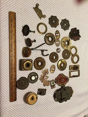 Large Lot of Hardware Key Holes Pulls Misc