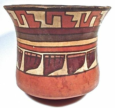 Pre-Columbian Nazca Colorful Panpipes Vase Ex: Sothebys 1980
