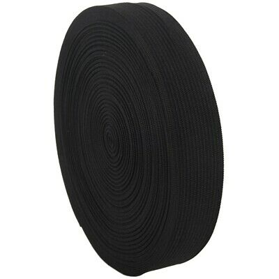 Household 12M Length Stretchy Elastic Band Roll Black 22mm Wide N3