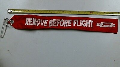 "Mr Gasket 6001 ""Remove Before Flight"" Parachute/Warning Flag 16"" x 2"" Red"