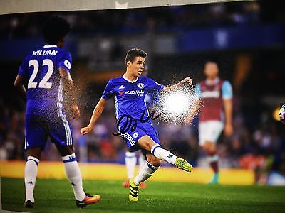Oscar Chelsea Fc Blues Hand Signed 12X8 Photo New Stock