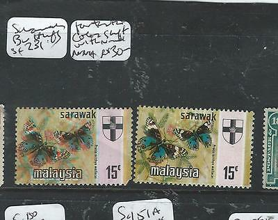 Sarawak (Pp1205B)  Butterfly 15C Color Shift Copy + Normal   Mnh