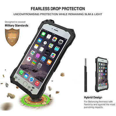 Slim Shockproof Aluminum Glass Metal Case Cover for iPhone 5s 6s 7 Plus