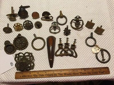 Large Lot Antique Pulls Handles For DIY Furniture Projects