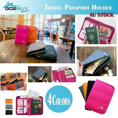 New Travel Wallet Passport Holder Credit Card Document Ticket Organizer Bag