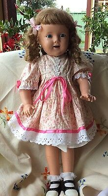 Vintage Antique Shirley Temple Composition Doll – 1930s – 26inch