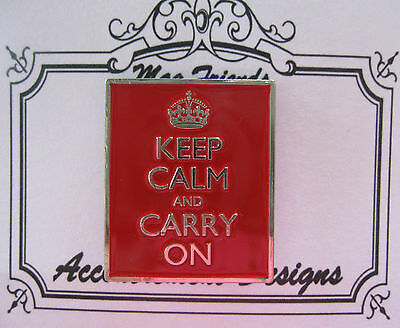 Accoutrement Designs Keep Calm Carry Red Needle Minder Magnet Mag Friend