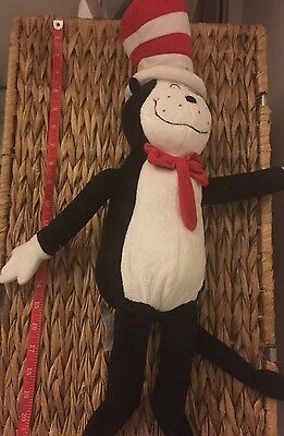 "CAT IN THE HAT 21"" Dr. SEUSS Kohls Cares Stuffed Animal Plush Toy"