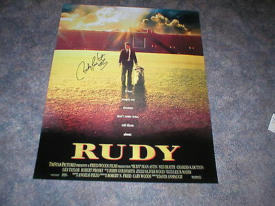 RUDY RUETTIGER AUTOGRAPHED 16x20 MOVIE POSTER-NOTRE DAME