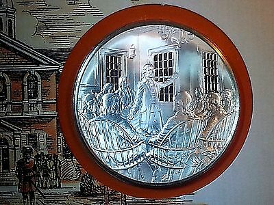 1974 Official Bicentennial .925 Silver Proof Medal and Cachet w/ 2 X 10c Stamps
