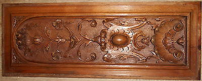 Beautiful French panel carved walnut. Very great carving finesse. 19th C.