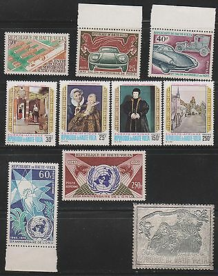 Upper Volta - 1970 New issues Incl. C86 Silver Embossed Unmounted Mint