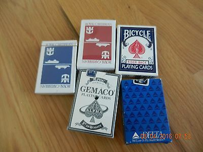 5 sets of PLAYING CARDS -  - VINTAGE