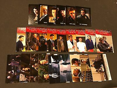 Super Natural Trading Cards Full 3 Sp Sets Season 4-6 Wb Ghost Hunt