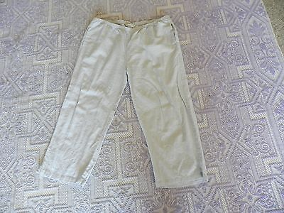 Ladies grey linen pants - size 16