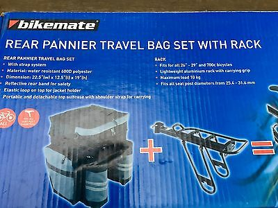 bike mate Rear Pannier Travel Bag Set with Rack