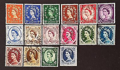 UK Great Britain GB Sg # 515 to Sg # 531 Fine Used Short Set 16 Stamp Collection